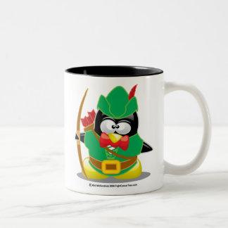 Pingüino de Robin Hood Taza De Café