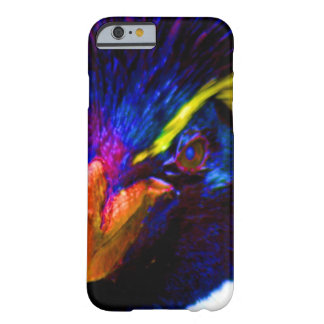Pingüino de Rockhopper del arco iris Funda Barely There iPhone 6