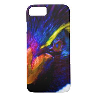 Pingüino de Rockhopper del arco iris Funda iPhone 7