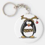 Pingüino de Rudolph Llavero Redondo Tipo Pin