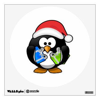 Pingüino de Santa con los presentes