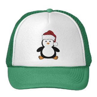 Pingüino de Santa Gorros Bordados