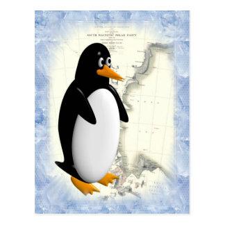 Pingüino de South Pole Tarjetas Postales