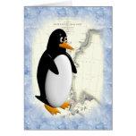 Pingüino de South Pole Tarjetón
