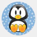 Pingüino de Tux del navidad Etiqueta
