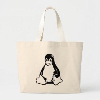 Pingüino de Tux - (Linux, Open Source, Copyleft, F Bolsa Tela Grande