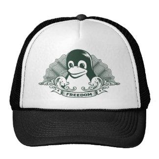 Pingüino de Tux - Linux Open Source Copyleft F Gorras