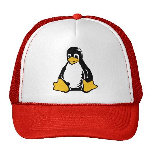 Pingüino de Tux - (Linux, Open Source, Copyleft, F Gorro De Camionero