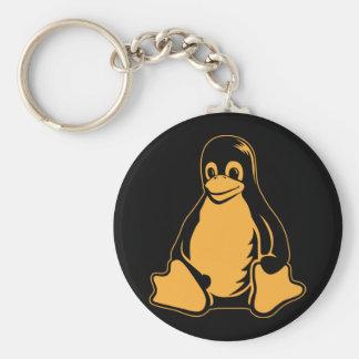 Pingüino de Tux - (Linux, Open Source, Copyleft, F Llavero Redondo Tipo Pin