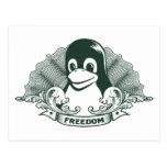 Pingüino de Tux - (Linux, Open Source, Copyleft, F Postal