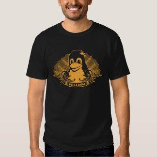 Pingüino de Tux - (Linux, Open Source, Copyleft, Polera