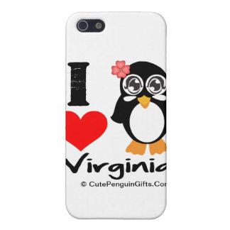 Pingüino de Virginia - amor Virginia de I iPhone 5 Cobertura