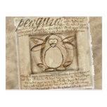 Pingüino de Vitruvian Postal