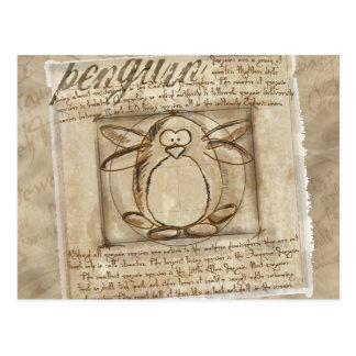 Pingüino de Vitruvian Postales
