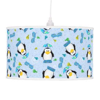 Pingüino de Wellies de la lluvia Lámpara De Techo