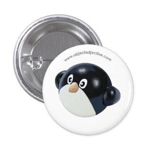 Pingüino del adjetivo del objeto pin redondo de 1 pulgada