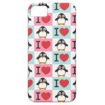 Pingüino del amor para el iPhone 5 iPhone 5 Case-Mate Carcasa