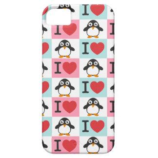 Pingüino del amor para el iPhone 5 iPhone 5 Funda