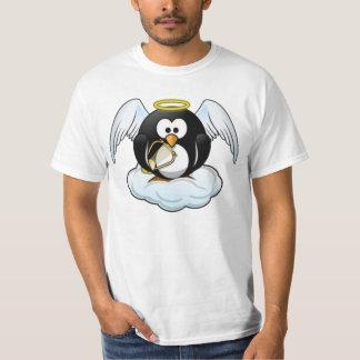 Pingüino del ángel del navidad poleras