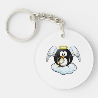 Pingüino del ángel en una nube