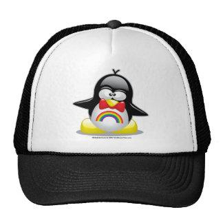 Pingüino del arco iris de LGBT Gorras