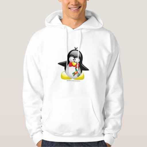 Pingüino del autismo sudadera con capucha