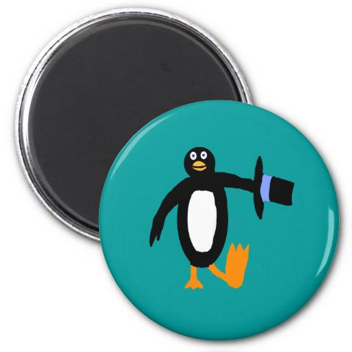 Pingüino del baile imán para frigorífico