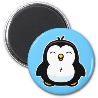 Pingüino del bebé del dibujo animado imán redondo 5 cm