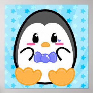Pingüino del bebé - poster del muchacho