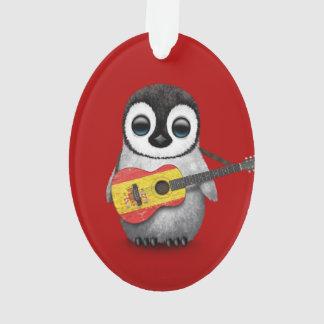 Pingüino del bebé que juega rojo español de la