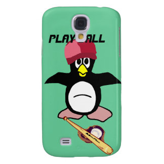 Pingüino del béisbol de la bola del juego en la pi