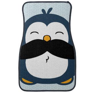Pingüino del bigote alfombrilla de coche