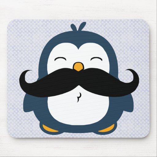 Pingüino del bigote alfombrilla de ratones