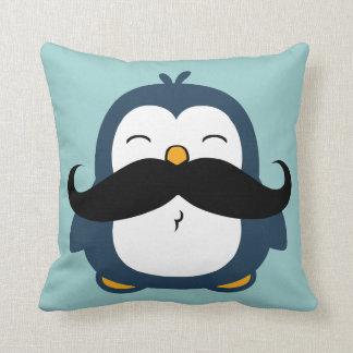Pingüino del bigote cojín