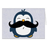 Pingüino del bigote felicitaciones
