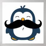 Pingüino del bigote impresiones