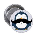 Pingüino del bigote pins
