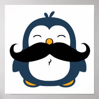 Pingüino del bigote póster
