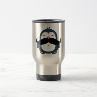 Pingüino del bigote taza de viaje