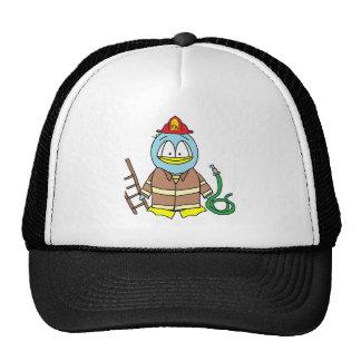 Pingüino del bombero gorras de camionero