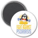 Pingüino del boxeo del psoriasis iman para frigorífico