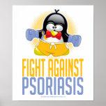 Pingüino del boxeo del psoriasis impresiones