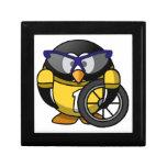 Pingüino del ciclista caja de recuerdo