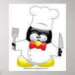 Pingüino del cocinero posters