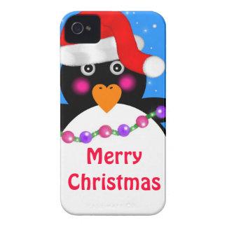 Pingüino del día de fiesta carcasa para iPhone 4 de Case-Mate