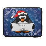 Pingüino del día de fiesta funda para macbook pro