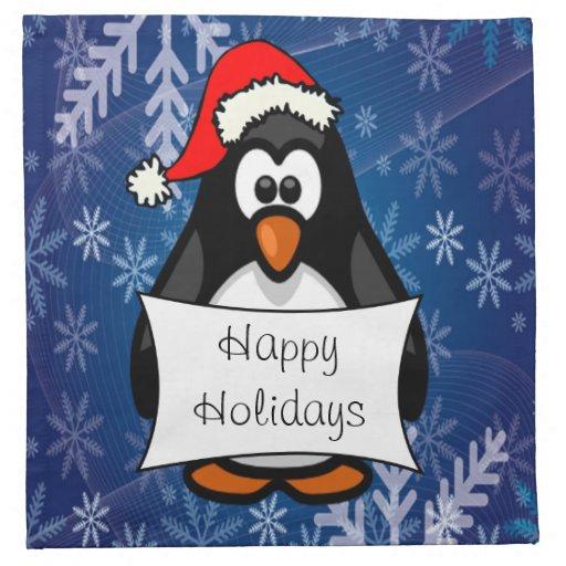 Pingüino del día de fiesta servilletas