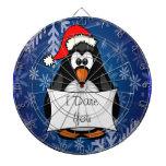 Pingüino del día de fiesta tablero de dardos