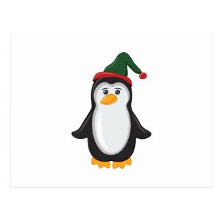 Pingüino del día de fiesta tarjetas postales