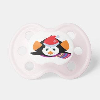 pingüino del dibujo animado chupetes para bebés